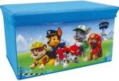 Blauwe Disney Paw Patrol speelgoed opbergbox met zitvlak 55 cm - Speelgoed opruimen/opbergen - Kinderkamer meubels