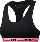 Puma Gold Logo High Waist Short Dames BlackGold