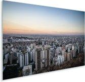 Schemering boven de stad Belo Horizonte in Brazilië Plexiglas 60x40 cm - Foto print op Glas (Plexiglas wanddecoratie)