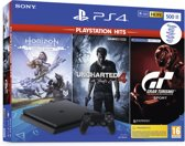 Afbeelding van Sony PlayStation 4 Slim 500 GB + Horizon: Zero Dawn + Uncharted 4 + GT Sport
