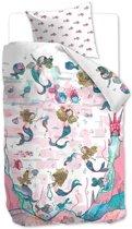 Beddinghouse Kids Mermaids - Dekbedovertrek - Junior - 120x150 cm + 1 kussensloop 60x70 cm - Roze