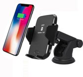Qi Auto Oplader - Autohouder - Telefoonhouder - Draadloze Car Charger - Apple & Android