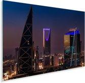 Kleuren van de gebouwen in Riyad in de avond Plexiglas 90x60 cm - Foto print op Glas (Plexiglas wanddecoratie)