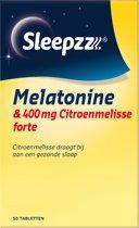 Sleepzz Melatonine Forte Met Citroenmelisse - 50st - Voedingssuplement