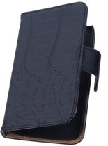 Zwart Croco Samsung Galaxy Core Book/Wallet Case/Cover