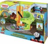 Mattel Thomas & Friends Take-n-Play Rattling Railsss autoracebaan - Thomas de trein