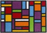 Polyamide Multi kleuren Ambiance Flash carré 50x70 cm