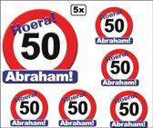 5x Huldeschild Abraham 50 jaar