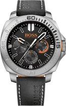 BOSS HO1513298 Horloge - Leer - Zwart - 46 mm