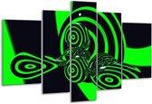 Glasschilderij Abstract | Groen, Zwart | 170x100cm 5Luik | Foto print op Glas |  F003250