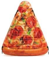 Intex pizzapunt drijfmat luchtbed opblaasbaar 175x145cm
