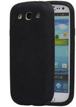 Samsung Galaxy S3 Hoesje TPU Backcover Zwart