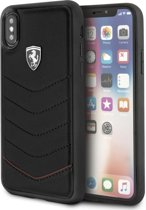 Ferrari Zwart Heritage Leather Quilted Hard Case iPhone X