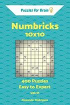 Puzzles for Brain Numbricks - 400 Easy to Expert 10x10 Vol. 11