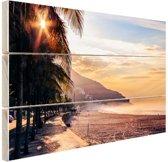 Zonsopgang Brazilie Hout 160x120 cm - Foto print op Hout (Wanddecoratie) XXL / Groot formaat!