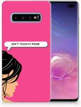 Samsung Galaxy S10 Plus Uniek TPU Hoesje Woman DTMP