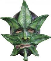 Canabisbladmasker voor volwassenen - Verkleedmasker - One size