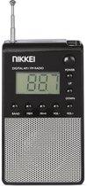 Nikkei NPR26 Personal Pocket Radio met Wekfunctie en Digitale Tijdsaanduiding