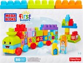 Mega Bloks First Builders Maxi 123 Leer Trein - Constructiespeelgoed