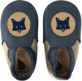 Bobux - Soft Soles Giants - Navy & beige fox loafer - Babyslofjes - EU 32