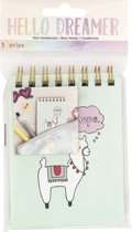 American Crafts - Hello Dreamer Mini Notebook Nope Llama - 36 Pages