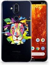 Nokia 8.1 Uniek TPU Hoesje Lion Color