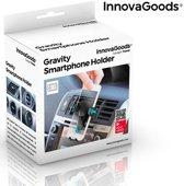 InnovaGoods - Universele telefoonhouder voor in de auto  - Zwart - Ventilatierooster - Ventilatie - Universeel - Mobielhouder - Autohouder - Samsung - iPhone - Nokia - Huawei - Sony - LG - HTC