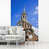 Fotobehang vinyl - Independence Hall in het Amerikaanse Philadelphia breedte 175 cm x hoogte 260 cm - Foto print op behang (in 7 formaten beschikbaar)