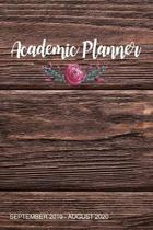 Academic Planner: Rustic Wood Weekly Planner with Bible Verses September 2019 - August 2020, Christian Journal and Organizer, Small Pers