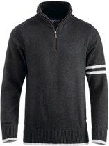 Highland sweater met rits zwart xl