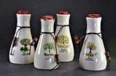 Pure, Luxe Oliën Set met Kukui olie, Arganolie, Tamanu olie en Jojoba olie in mooie 50ml Karaffen