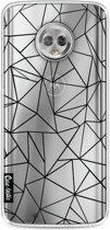 Casetastic Softcover Motorola Moto G6 - Abstraction Outline Black Transparent