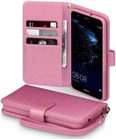 Huawei P10 Lite hoesje - CaseBoutique - Roze - Kunstleer