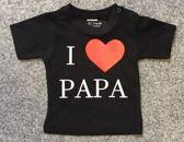 Baby shirt zwart met opdruk ''I ......PAPA'' maat 68
