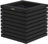 Hillhout - Elan bloembak Excellent 50 zwart - Vuren - 50x50x50 cm
