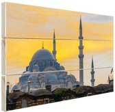 Istanbul Midden-Oosten Hout 80x60 cm - Foto print op Hout (Wanddecoratie)