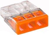 WAGO Lasklem Transp/Oranje 3 Polig (100stks)