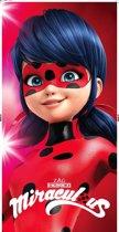 Miraculous Ladybug Smile - Strandlaken - 70 x 140 cm - Rood