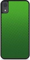 iPhone Xr Hardcase hoesje groene cirkels