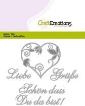 CraftEmotions Mal Tekst - Liebe Grusse Duits  Card 11x9cm