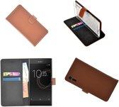 Sony Xperia XZs Bruin effen Wallet Bookcase Hoesje