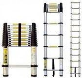 Telescopische Ladder - 8 treeds - 2.60m - Aluminium