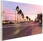 Kleurrijke lucht Las Vegas Hout 80x60 cm - Foto print op Hout (Wanddecoratie)