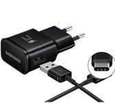 Samsung S9 - S9 plus 2018 Fast Charger zwart inclusief Samsung USB TYPE-C kabel 1.5 meter zwart