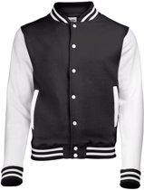 Zwart met wit college jacket voor heren S