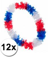 12 luxe Hollandse Hawaii kransen rood wit blauw