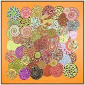 Zijde blend dames sjaal groot | 130*130CM | Verpakt in giftbox | Shawl Stola Omslagdoek | vierkant | Emilie Scarves | Silky | Oranje Bruin