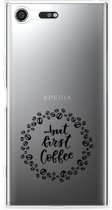 Sony Xperia XZ Premium Hoesje But first coffee