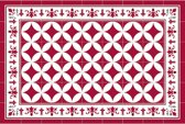 Placemats - Anti-slip - 30 x 45 cm - 4 Stuks - CORDOBA RED