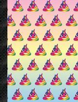 My Super Cute Rainbow Unicorn Poop Emoji 4x4 Quad Graph Paper Notebook